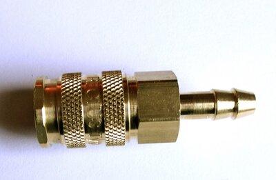 Rectus Insteeknippel 8 mm, met stootrand